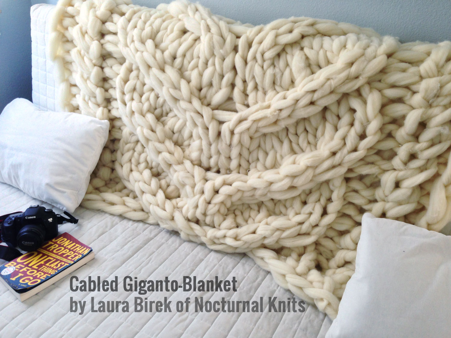 Cabled Giganto-Blanket - Instructions Included! | Nocturnal Knits